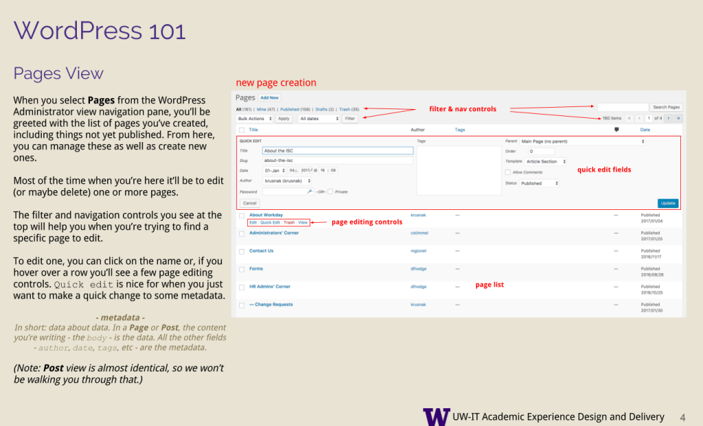 "This image shows instructions for how to use the ""posts"" view in WordPress; details unimportant for this context"