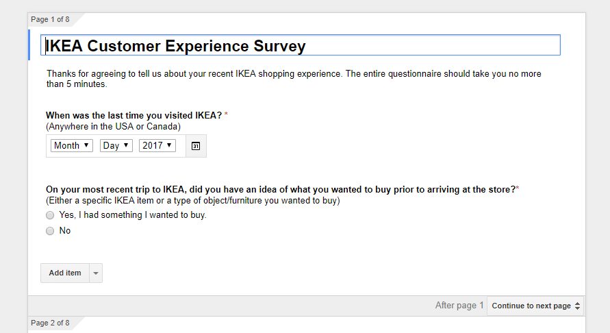 A snippet of a google form; text is unimportant